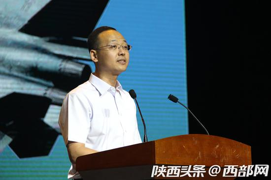航空工业人力资源中心主任司莙鹏介绍企业相关情况。
