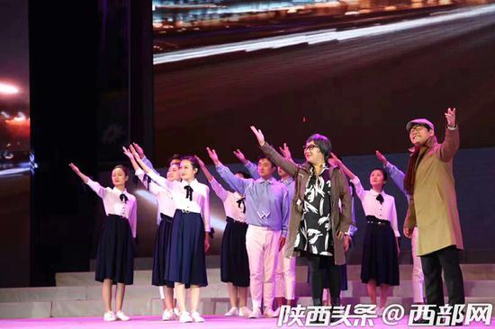 陕西省第七届小戏小品优秀剧目展演闭幕。