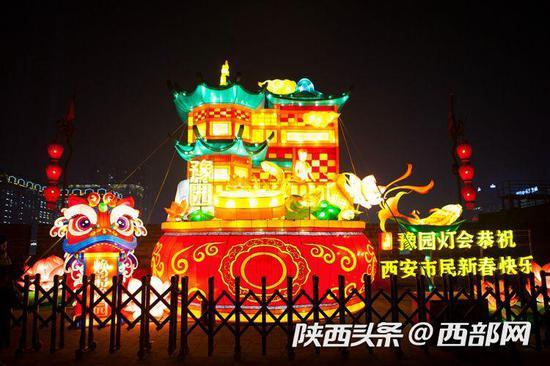 与上海豫园灯会联动灯组
