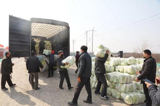 暖心 !空港新城太平镇骆村5万斤蔬菜免费送群众