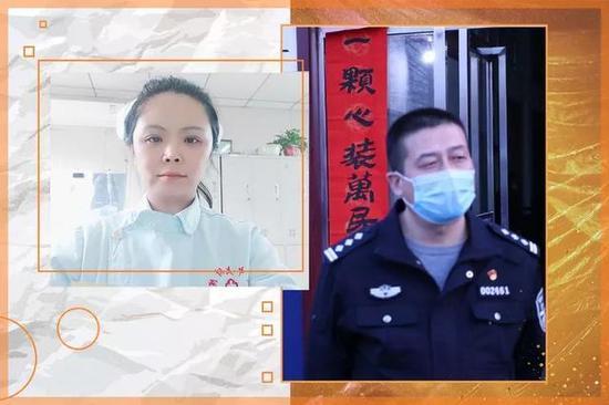 """西咸新区泾河新城:""""公安蓝""""+""""天使白""""最美情侣装"""