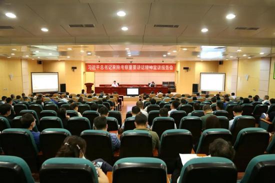 西安市委宣讲团走进浐灞 宣讲来陕考察重要讲话精神