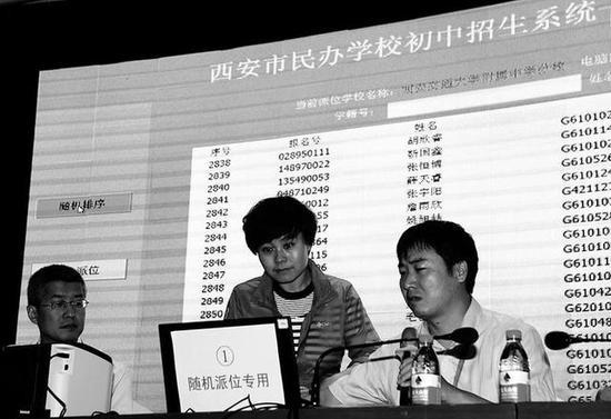 碑林区学生家长代表启动派位系统本报记者马昭党运摄