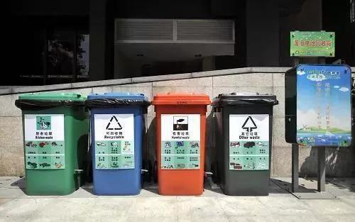 |一些居民小区,已配备有垃圾分类设施(资料图)|