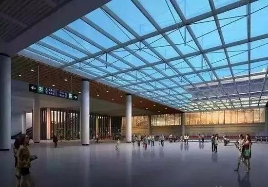 火车站北站房换乘大厅效果图