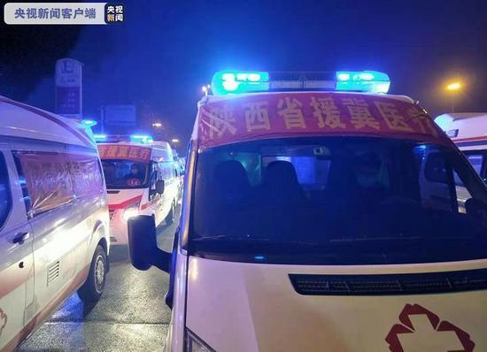 陕西省援冀医疗队救护车队今早先行返程