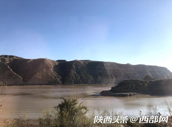 清涧县无定河入黄口。
