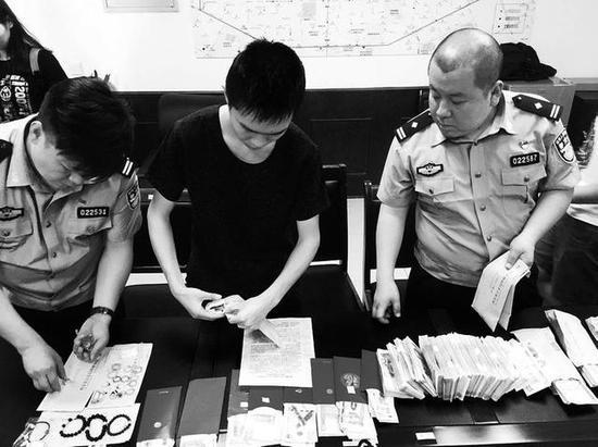 警方查获的被盗赃物