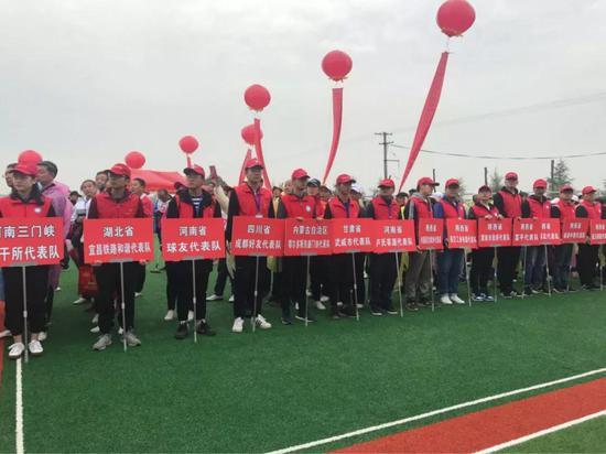 来自全国十一省市区的57支门球代表队同台竞技(图片来自网络)