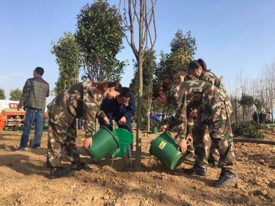 再添新绿 2019年西咸新区春季义务植树3600多棵