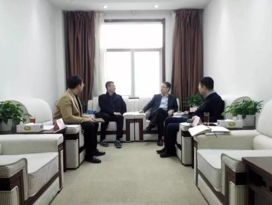 丰佳国际集团董事长耿健到西咸新区能源金贸区交流座谈