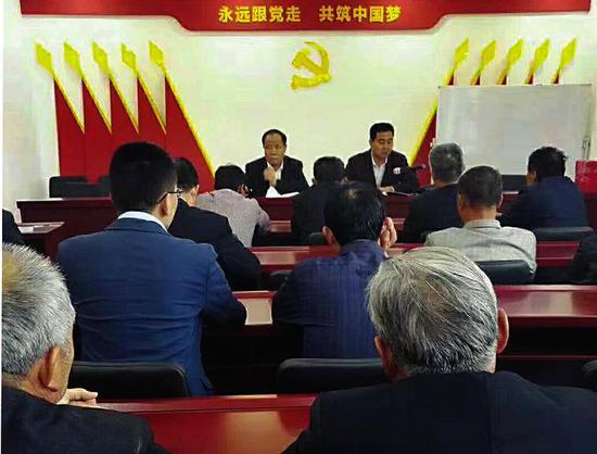 何村党支部党员活动现场。(资料图片)