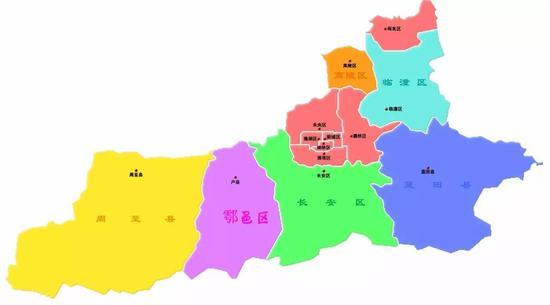 丨西安市行政区划图丨