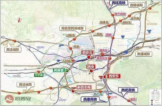 丨西安铁路枢纽规划图丨
