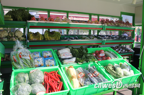 宝鸡智慧便民果蔬直通车果蔬品种丰富。