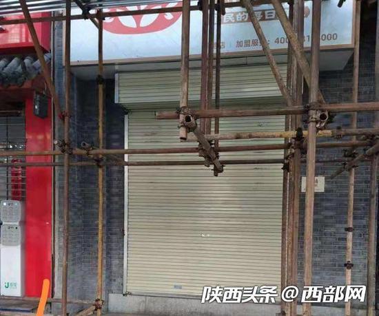 断电的商家店铺已经停业两周。