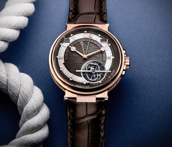 宝玑MARINE航海系列5887陀飞轮时间等式腕表