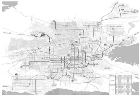 图5 大西安轨道交通规划图