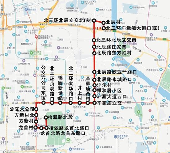 36路运行图。