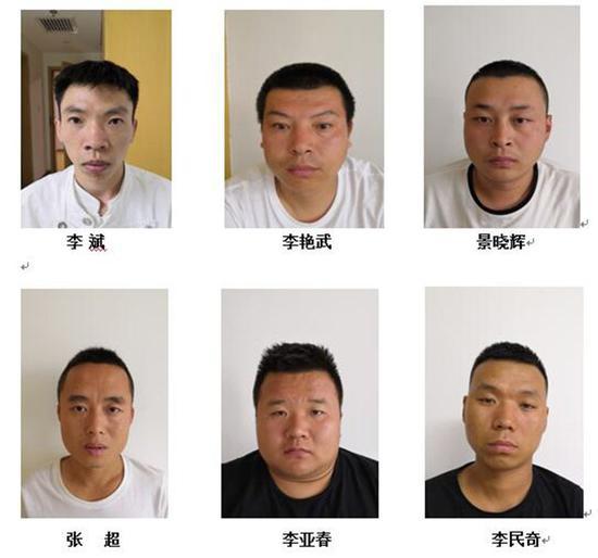 附:李斌、李艳武等人涉恶犯罪团伙成员信息