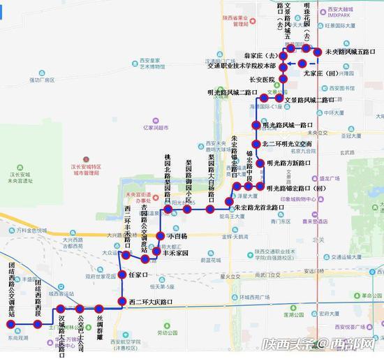 151路公交运行图。