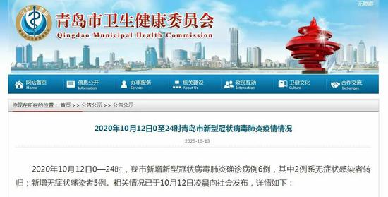 陕西多地发布紧急提醒 青岛6例确诊病例详情公布