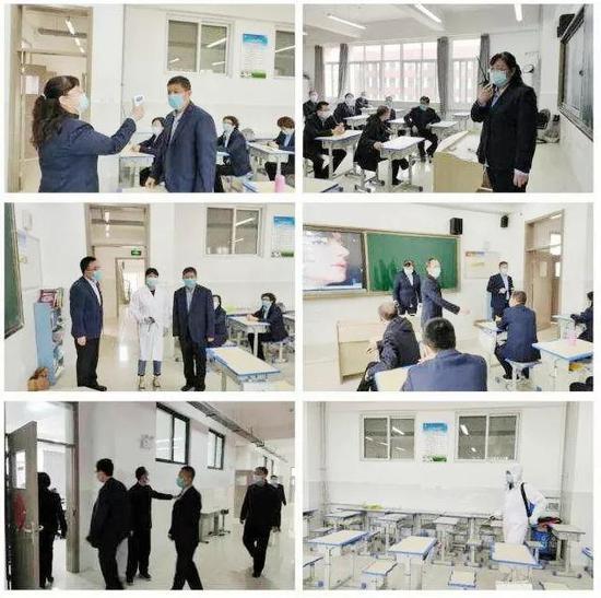 灞桥区开展普通高中学校春季开学疫情防控模拟演练
