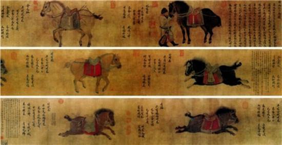 《昭陵六骏图》是金代画家赵霖根据壁画创作的一幅中国画,现存于故宫博物院。