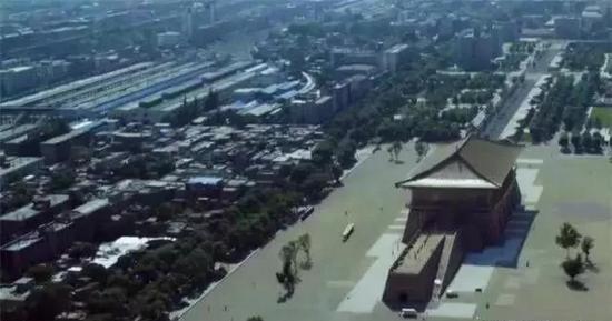 大明宫遗址南北破败与繁华对比