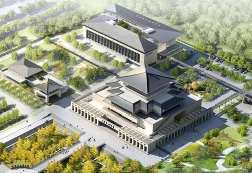 陕西考古博物馆效果图。