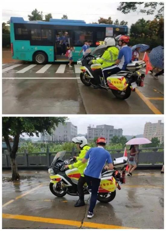 12分钟后,交警带着考生顺利拿到准考证前去赴考。