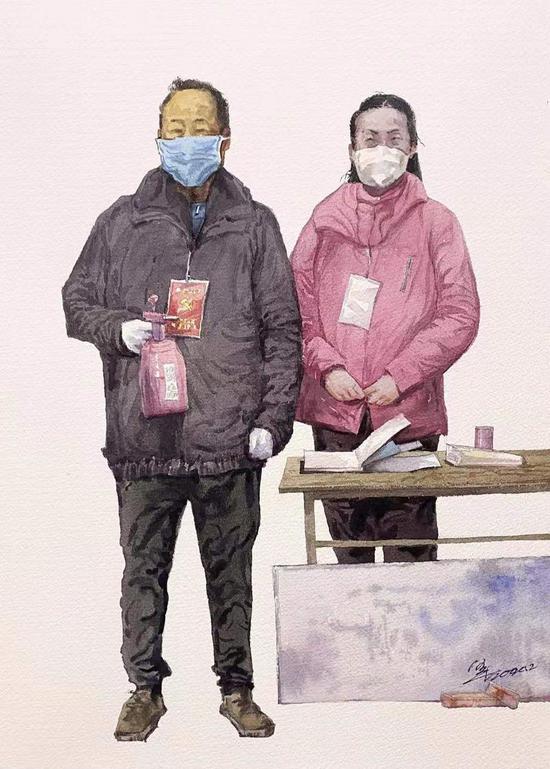 西安文理学院师生用作品向抗疫勇士致敬