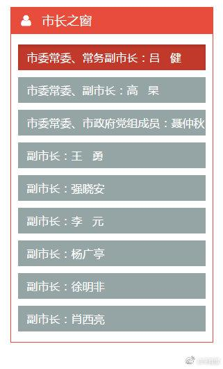 11月21日,西安市政府网站发布市政府领导同志工作分工通知。