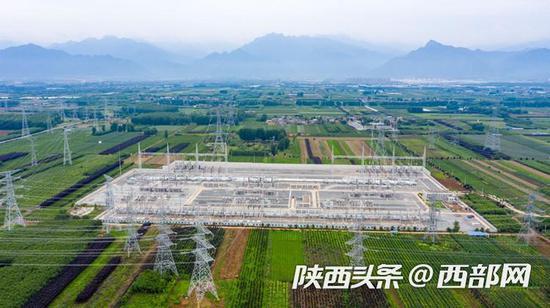 国网陕西省电力公司南山750千伏变电站。