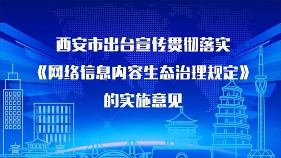西安市出台宣传贯彻落实《网络信息内容生态治理规定》的实施