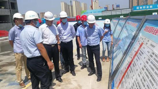 能源金贸区园办扎实开展建筑施工领域安全生产检查