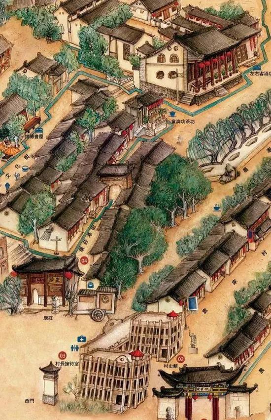 袁家村手绘地图(图/冯帆)