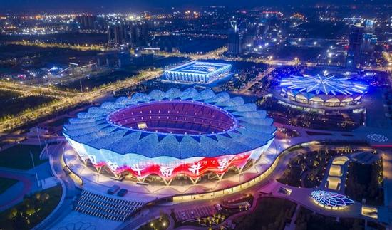 十四运会主场馆西安奥体中心(西安国际港务区供图)