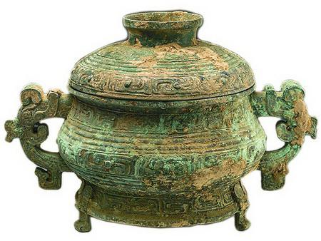 2017年1月14日在犯罪嫌疑人家中搜到的青铜簋,经鉴定是国家一级文物。