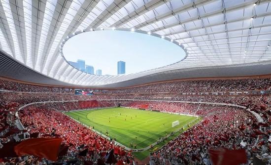 西安国际足球中心项目效果图