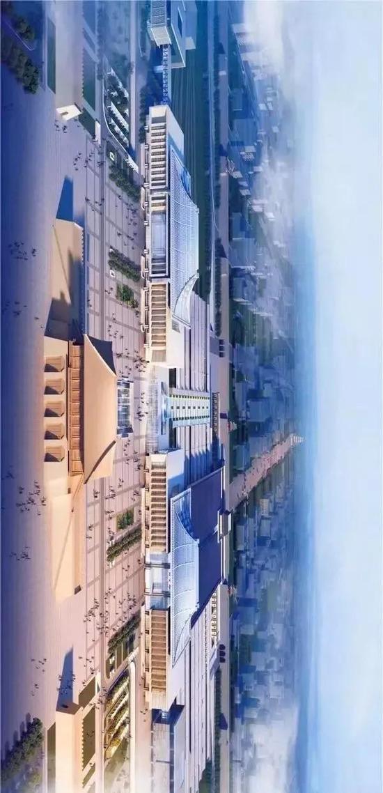 西安火车站整体规划鸟瞰图
