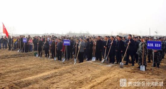 植树节来临,西咸新区泾河新城开展2018年义务植树活动
