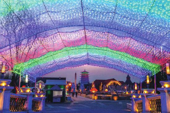 西安浐灞生态区:梦幻浐灞中国年 迎春送福进万家