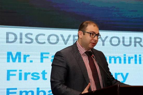 阿塞拜疆驻华使馆一等秘书进行推介