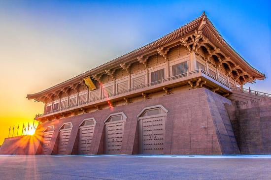 ▲大明宫国家遗址公园