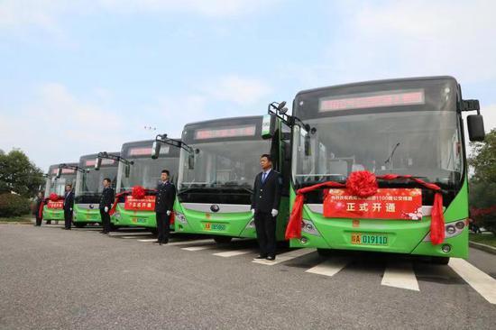 群众出行迎利好 空港新城开通三条公交线路
