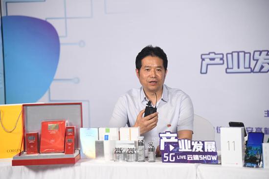 创业园发展中心主任樊锋昭介绍创业园发展规划