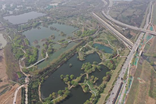 """""""三河一山""""渭河西安城市段綠道:將新增763個停車位"""