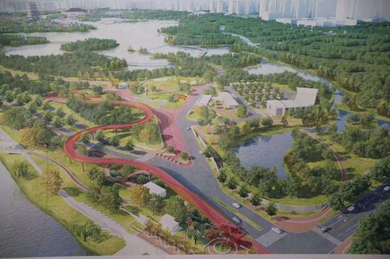 """""""三河一山""""高新区、长安区、浐灞生态区绿道建设正忙"""