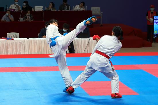 十四运会空手道测试赛暨陕西省青少年邀请赛完赛
